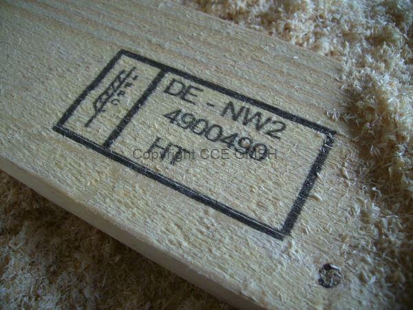 Kennzeichnungsanlage zur Beschriftung von Holz