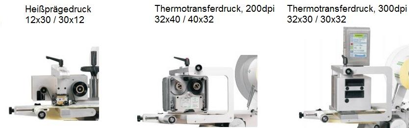 Etikettenspender mit Druckwerk