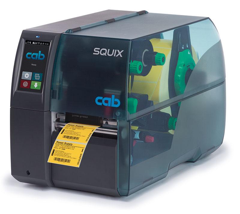 Etikettendrucker SQUIX 4M mit zentrierter Materialführung
