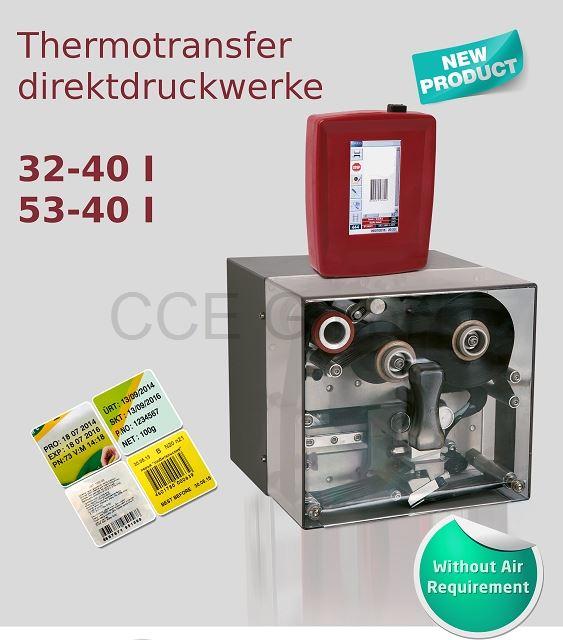 Thermotransferdirektdruckwerk 32mm oder 53mm Druckbreite